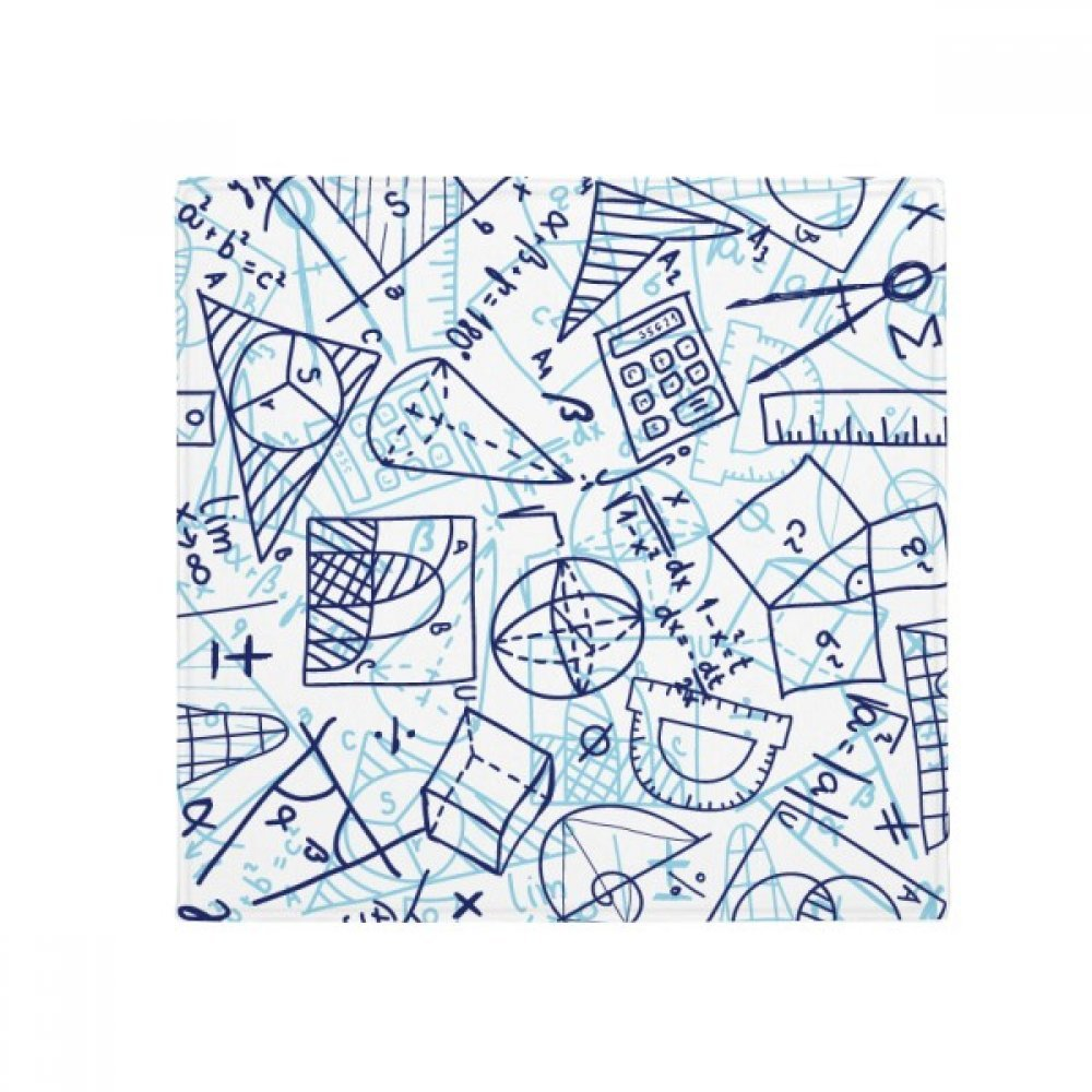 DIYthinker bluee Hand Painted Math Ruler Calculator Illustration Anti-Slip Floor Pet Mat Square Home Kitchen Door 80Cm Gift
