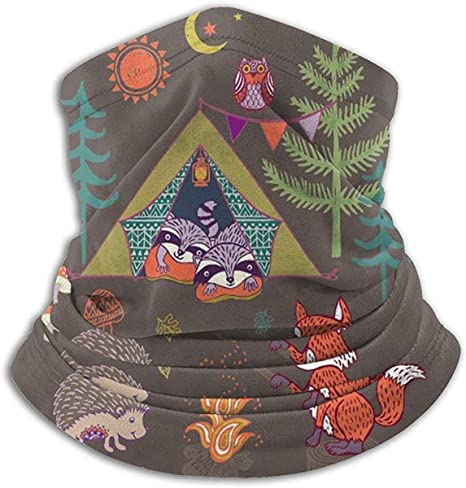 Bgejkos Riccio di Legno Fox Forest Camp Scaldacollo in Pile Scaldacollo Antivento Scaldacollo Invernale Maschera per Il Viso Freddo per Uomo Donna