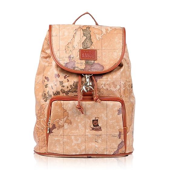 Amazon faux leather vintage novelty world map backpack travel faux leather vintage novelty world map backpack travel lacing bag hot 01 publicscrutiny Images