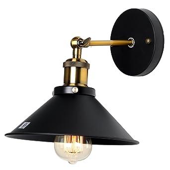 Lampe Applique Murale Métal Style Parapluie Rétro Industrielle