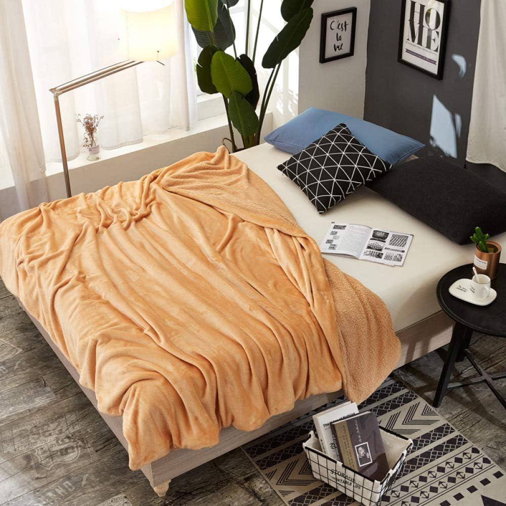 DUOAIQI Manta pequeña Acolchada Doble Cubierta del sofá Manta Cordero Terciopelo Coral Terciopelo Manta Cubierta de edredón para niñosEl 1 * 1.6m