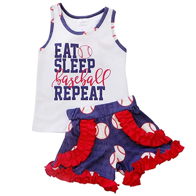 Amazon Com So Sydney Girls Toddler Baseball Summer Dress Capri