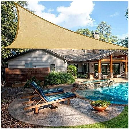 Sombra Vela Triángulo Sombra Vela 3x3m 4x5m Pérgola Toldo Impermeable 95% UV Sombra Al Aire Libre Red de Protección Solar para Terraza Pérgola Patio Trasero Actividades Actividades Toldo: Amazon.es: Hogar