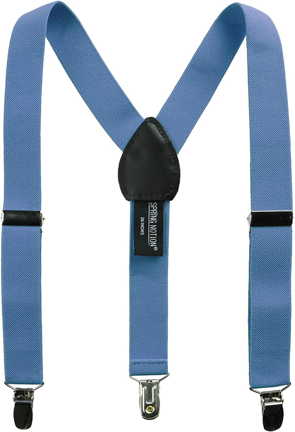 Spring Notion Boys Elastic Suspenders with Leather Crosspatch