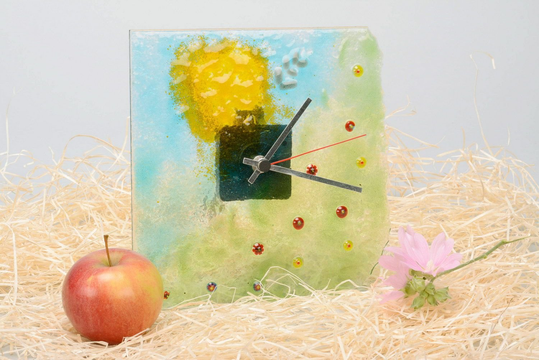 Amazon.com: Handmade Wall Clock Made of Fusing Glass \