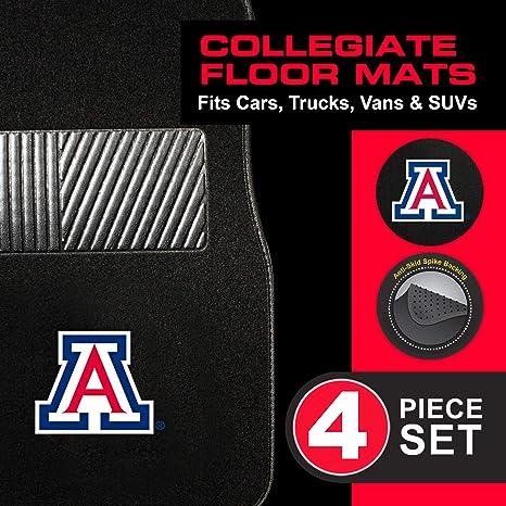 Pilot Alumni Group FM-917 Universal Fit Four Piece Floor Mat Set Collegiate Arizona Wildcats