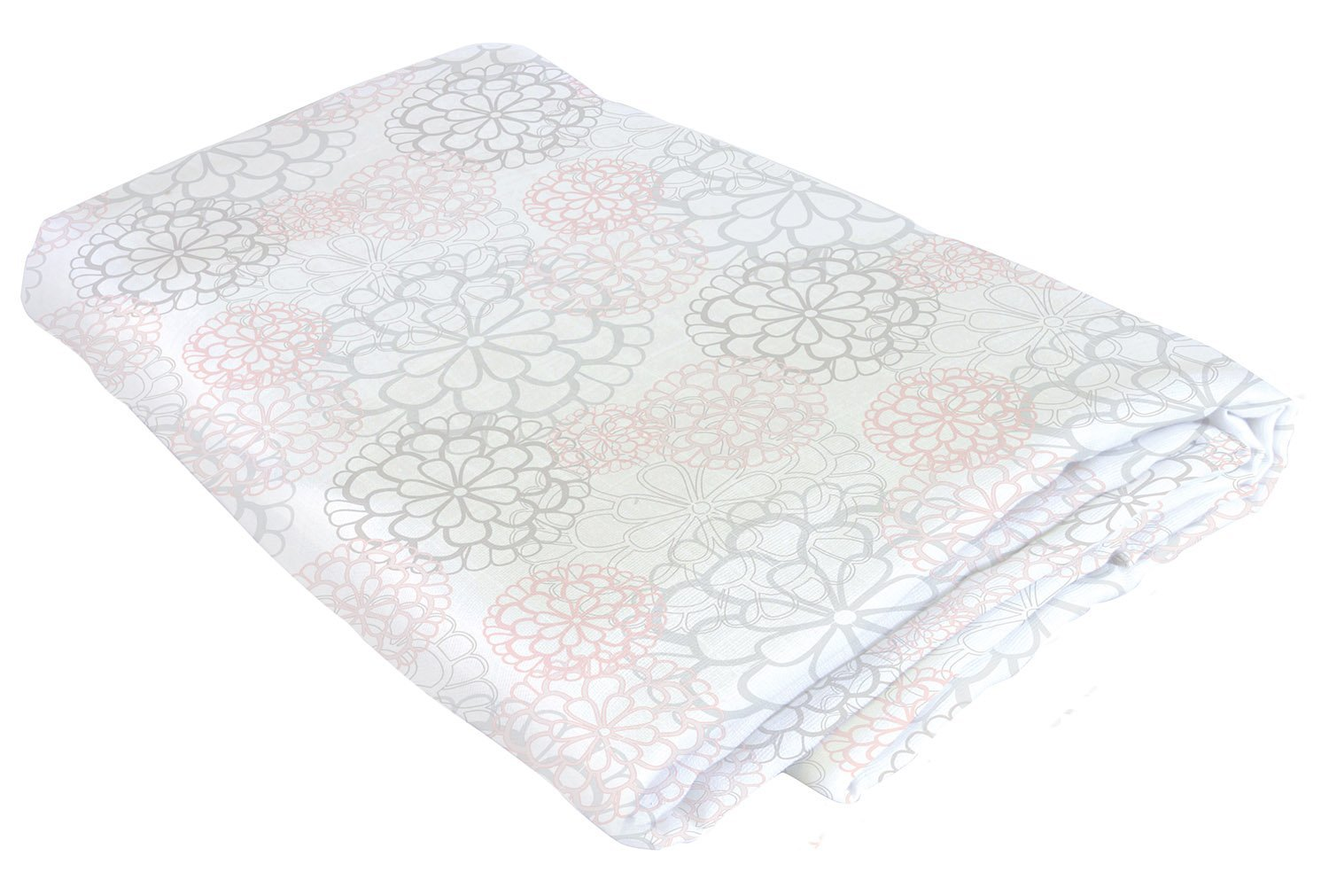 Stephan Baby Viscose Cotton Muslin Swaddle Blanket, Pink and Gray Floral