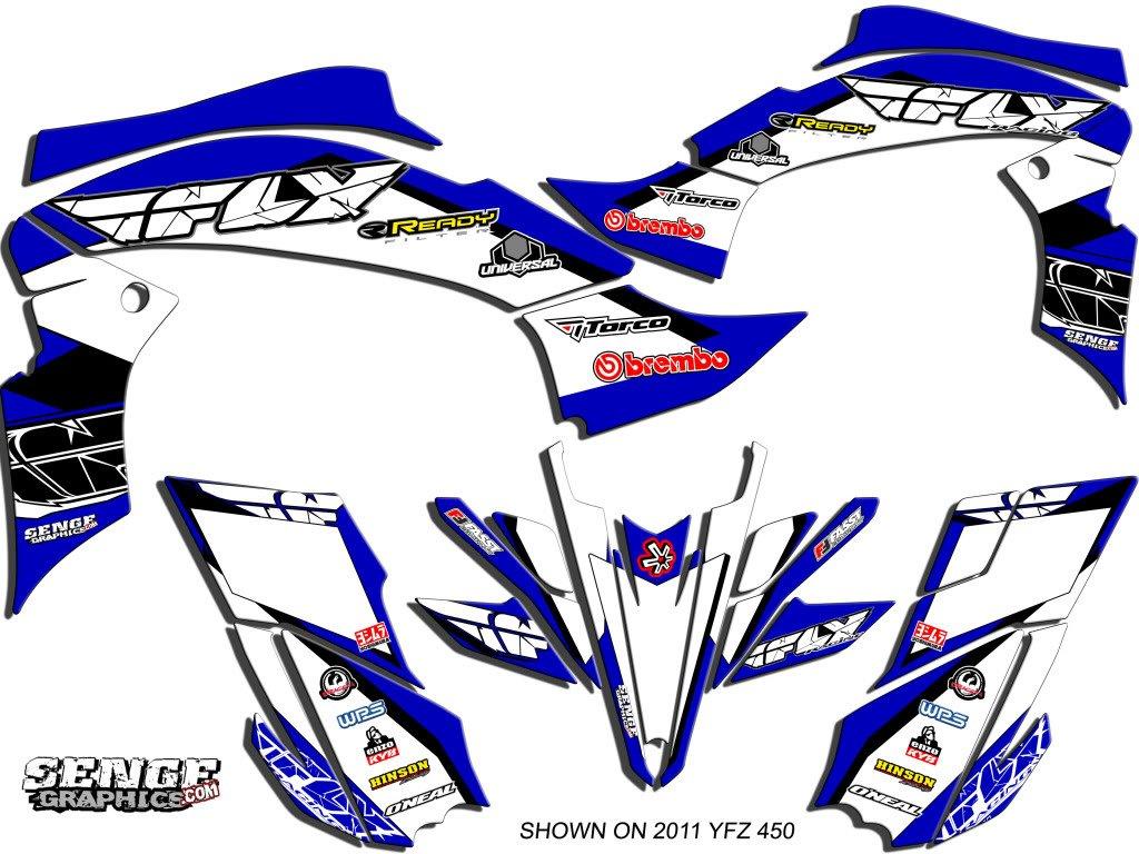 Senge Graphics All Years Yamaha Raptor 660, 13 Fly Racing Blue Graphics Kit Senge Graphics Inc. COMINU031147