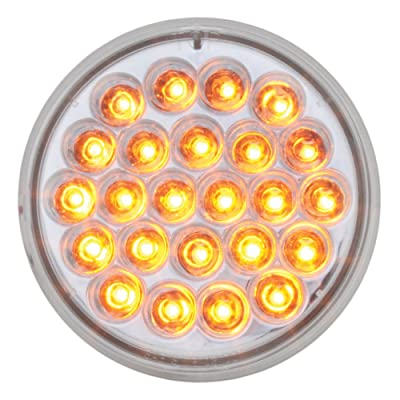 "Grand General 76506 Amber 4"" 24 Pearl LED Strobe Light with Clear Lens: Automotive"