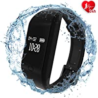 fitpolo Health Fitness Tracker HR - Heart Rate Monitor Smart Bracelet,IP67 Waterproof Activity Tracker with Sleep Monitor, Step Counter, Calorie Counter, Pedometer for Kids Women Men