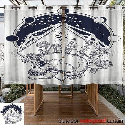 Amazon com : RenteriaDecor Outdoor Balcony Privacy Curtain Human