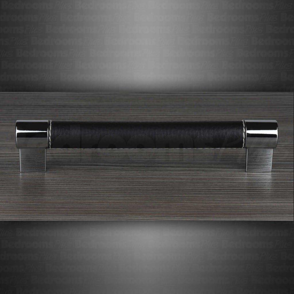 Bar B/âton Cuisine Armoire Porte Poign/ées Placard Tiroir Chambre Meubles Tirer Chrome Cuir 128 mm
