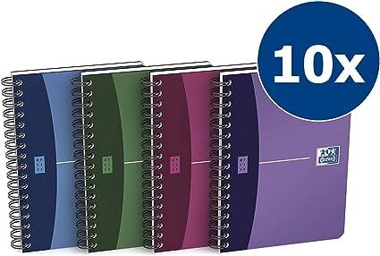 Oxford Urban mix - Pack de 10 cuadernos espiral, tapa plástico ...