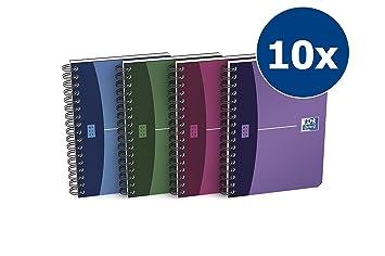 Oxford Urban mix - Pack de 10 cuadernos espiral, tapa plástico opaco, A6: Amazon.es: Oficina y papelería