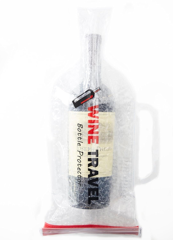 Amazon.com: Vino botella de viaje protector de visualización ...