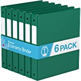 "Premium Economy, Round Ring, Binder, 6 Pack (1"", Green)"