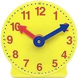 "ETA hand2mind Plastic Geared Practice Clock, 4"""