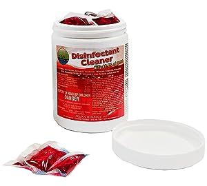 Disinfectant Cleaner for Spray Bottles, Dissolving Packs Refill Jar - Cleaner, Disinfectant, Detergent, Deodorizer, Virucidal, Bactericidal, Fungicidal