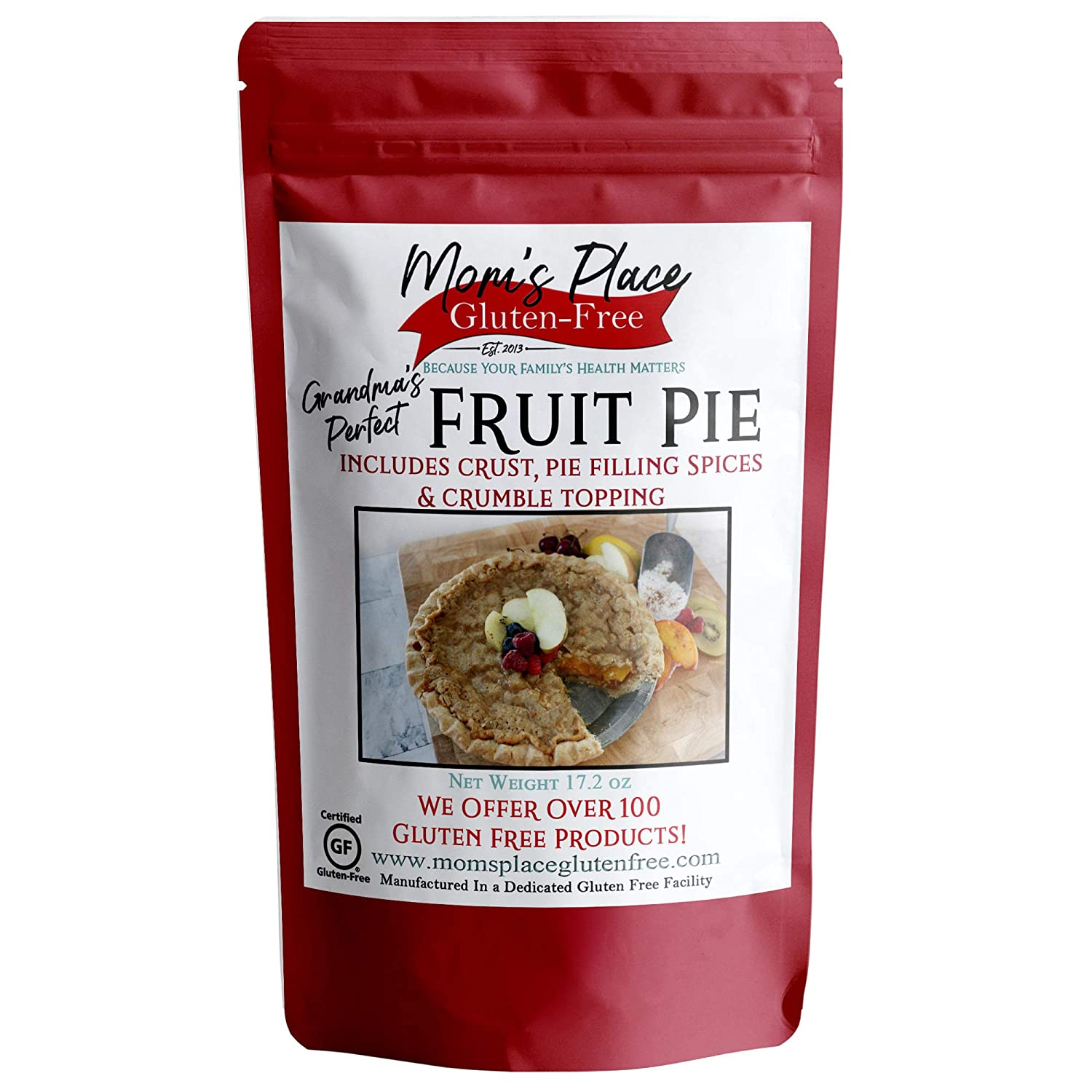Gluten-Free Fruit Pie with Crumble Topping