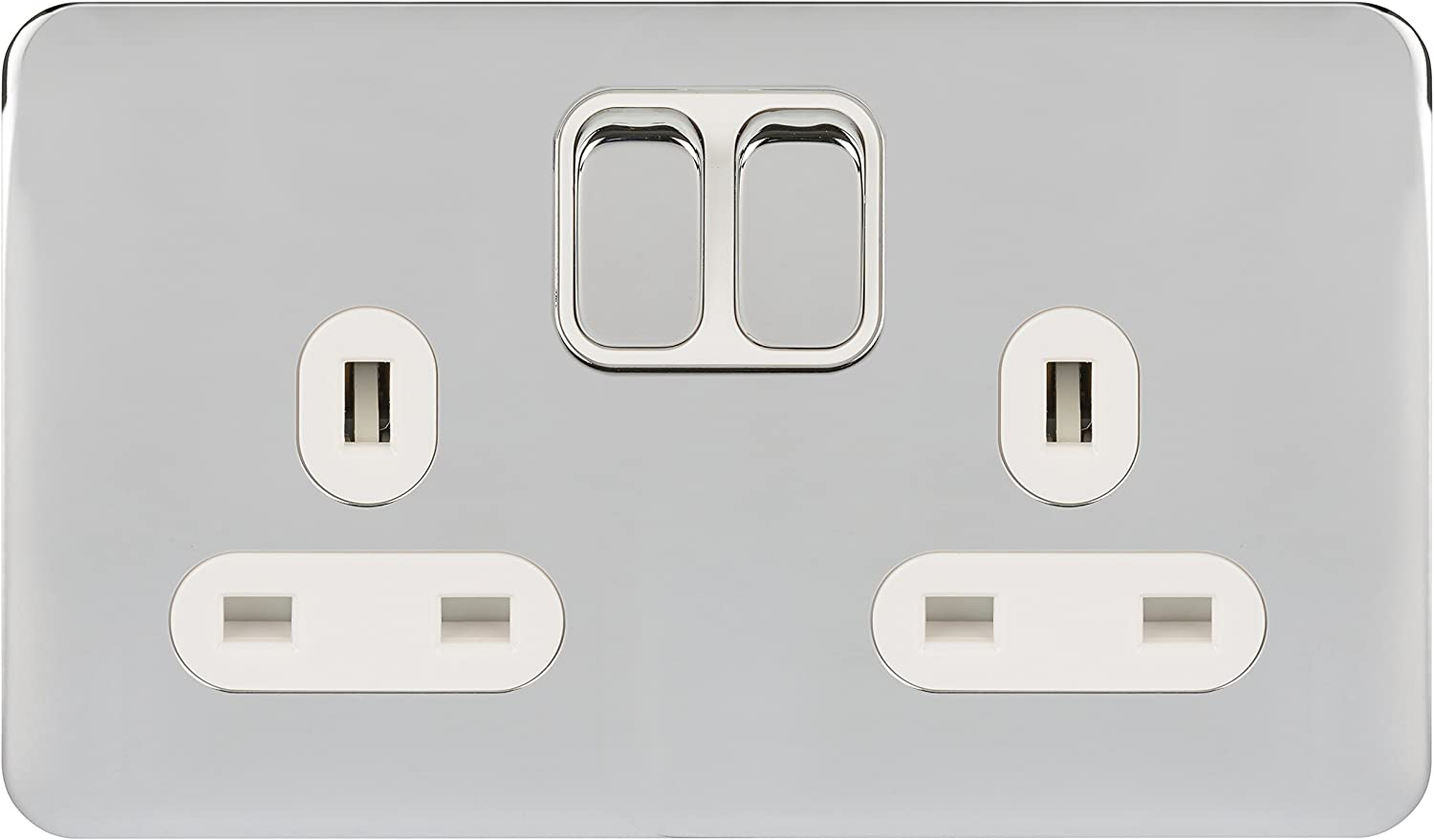 White painted Schnider Electric white interior Ultimate Plate Switch