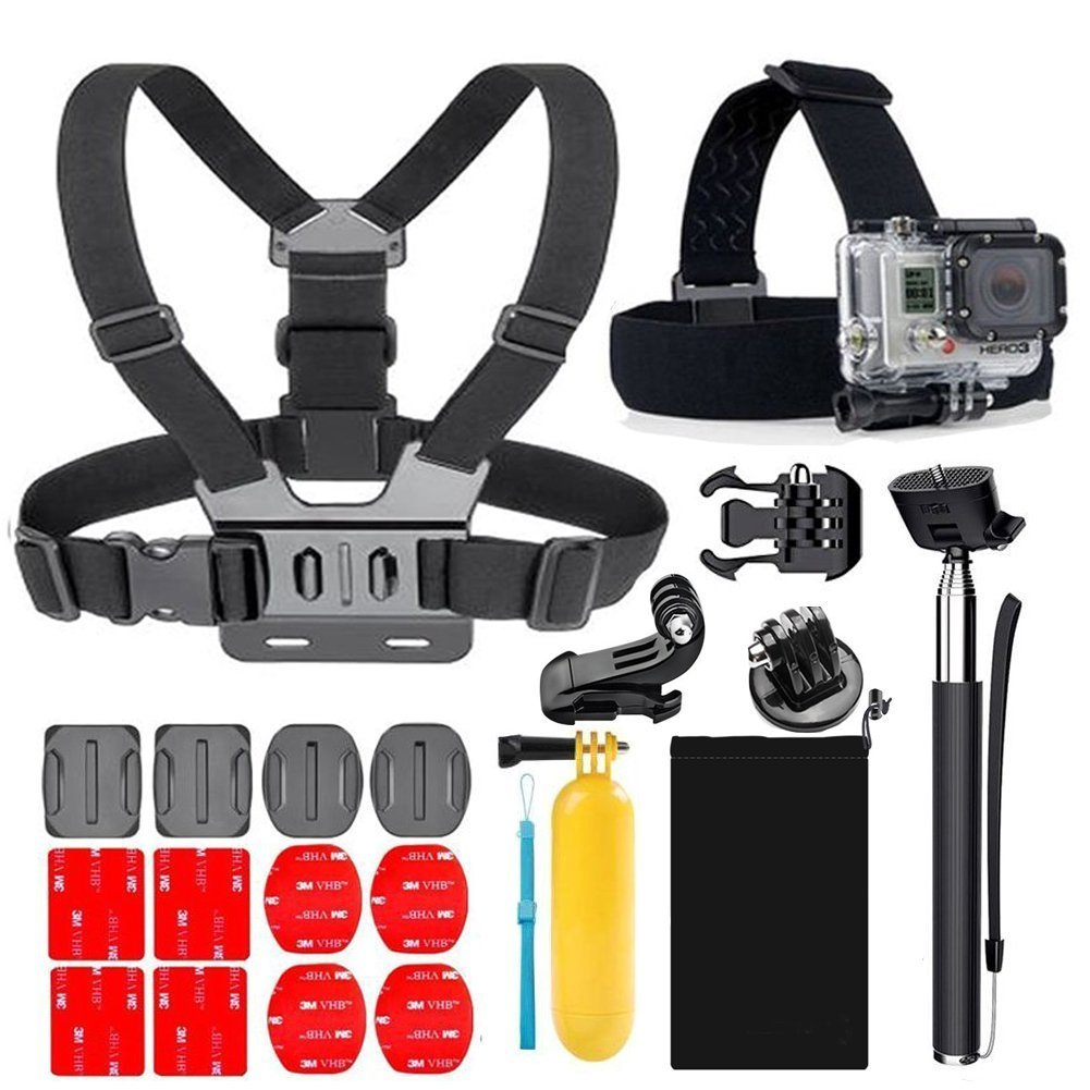 Accessories for Gopro, YEHOLDING Action Camera Mounts for Gopro Hero 6 5 4 3 and SJ4000 Xiaomi Yi DBPOWER and Other Sports Cameras