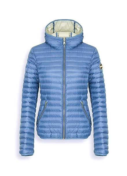 COLMAR ORIGINALS   Lightweight Down Jacket with Blue Hood