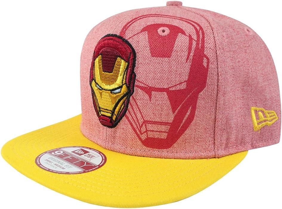 new styles 5c233 46df1 New Era 9Fifty Iron Man Face Heather Snapback Cap (S-M)  Amazon.co.uk   Clothing
