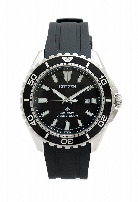 [シチズン] CITIZEN エコドライブ ダイバー 200m デイト ブラック文字盤 SS メンズ 腕時計 E168-S111501 B07DK7K4VL
