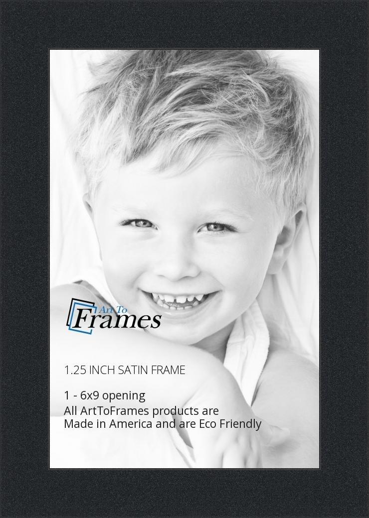 Amazon.com - ArtToFrames 6x9 inch Satin Black Picture Frame ...