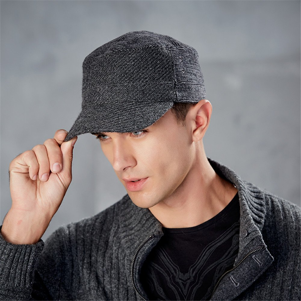 31159e75bec Kenmont Woolen Peaked Baseball Cap Men s Twill Army Cap Military Hat Warm  Autumn Winter Hats  Amazon.co.uk  Clothing