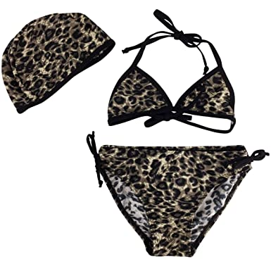 black Bikini leopard swimsuit