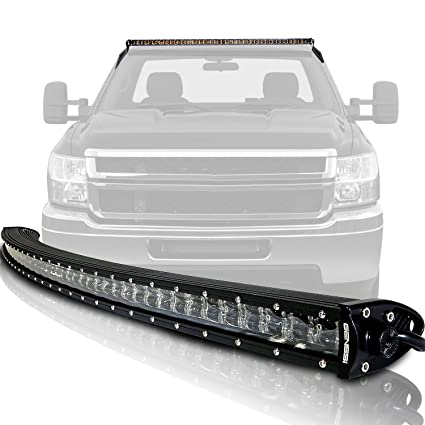 Genssi 54 Inch 3d Curved 288w Spot Flood Combo Led Slim Double Row Light Bar Kit Mounting Bracket And Harness Switch For Offroad Trucks Fits Chevy