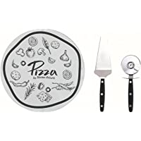 Kitchen Artist Redonda Tabla para Pizza Plato Cristal