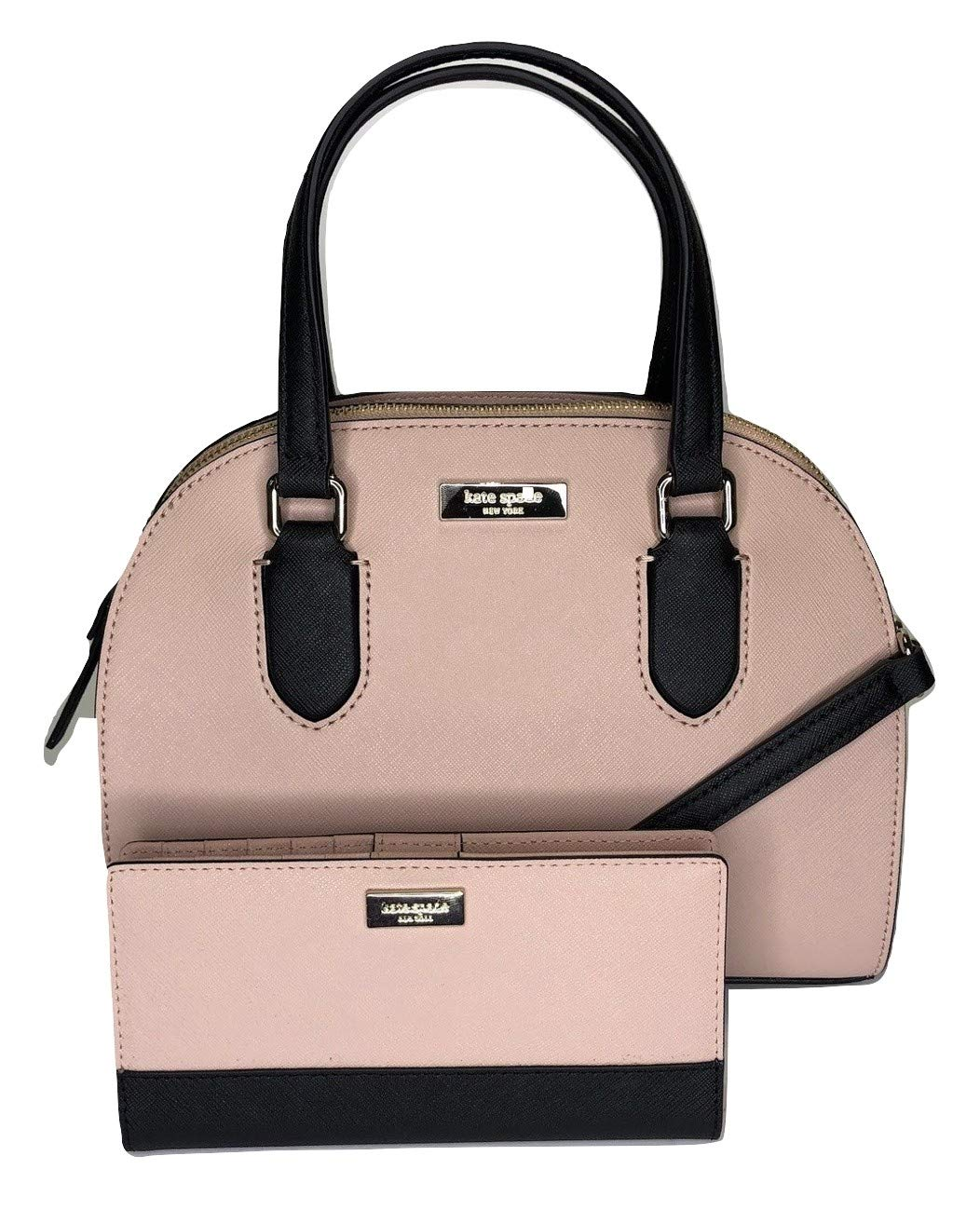 Kate Spade New York Laurel Way Mini Reiley WKRU5639 bundled with matching Stacy Wallet (Warm Vellum/Black)