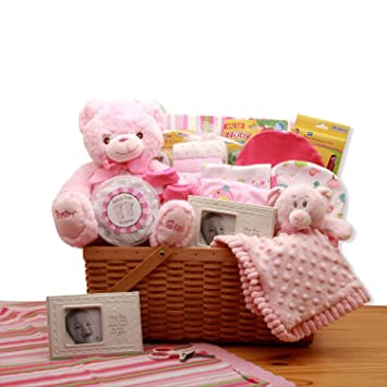 Amazon.com: My First Teddy Bear - Cesta de regalo para bebé ...