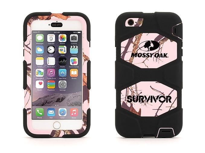 pretty nice e408f 99caf iPhone 6 Plus/6s Plus Rugged Case, Survivor All-Terrain Mossy Oak Pink  Breakup