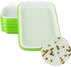 5 Pack Seed Sprouter Tray, Germination Trays for Seedling Planting, Garden, Home and Office