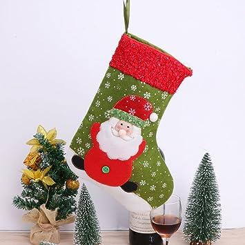 cici store small christmas stockings xmas candy gift bag santa claus snowman socks - Small Christmas Stockings