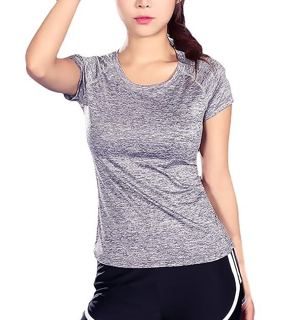 Lannister Fashion Camiseta Deportivas Mujer Fitness Verano Casual Deportivas Fitness Cómodos De Secado Rápido Camisetas Basicas