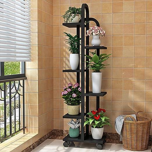 JCOCO - Estante para flores - Pérgola - Metal - Estante para plantas - Estante para flores de varias capas - Estante para macetas - Estante de metal multifuncional - Decoración para interiores - Decoraciones para exteriores: Amazon.es: Jardín