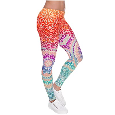 Ayliss Women Leggings Digital Print Yoga Skinny Pants High Waist Gym Elastic Tights at Women's Clothing store