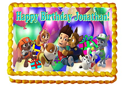 Amazon Paw Patrol Birthday Party 1 4 Sheet Edible Photo