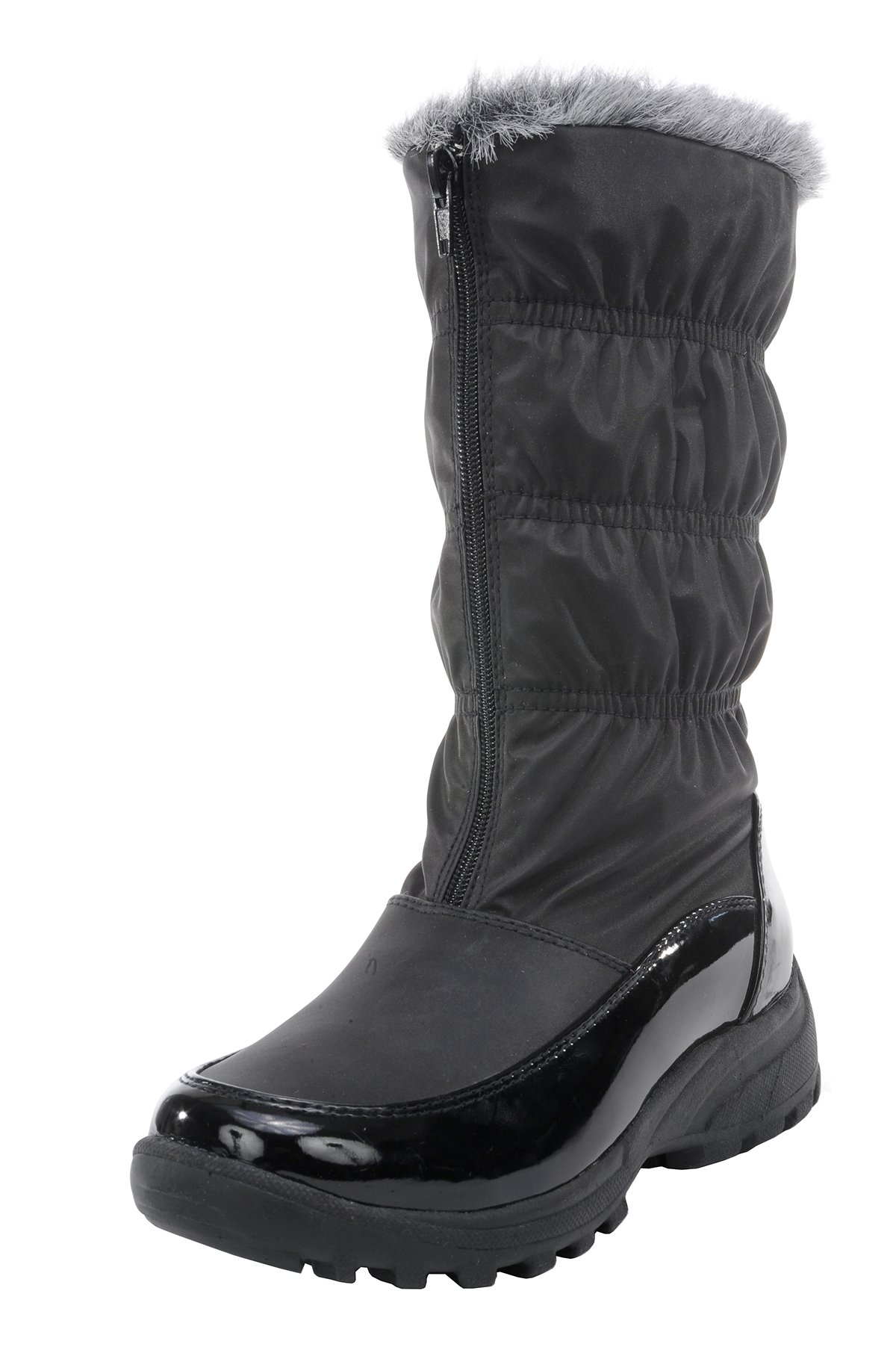 totes Women's Sled Snow Boot (10 B(M) US, Black)