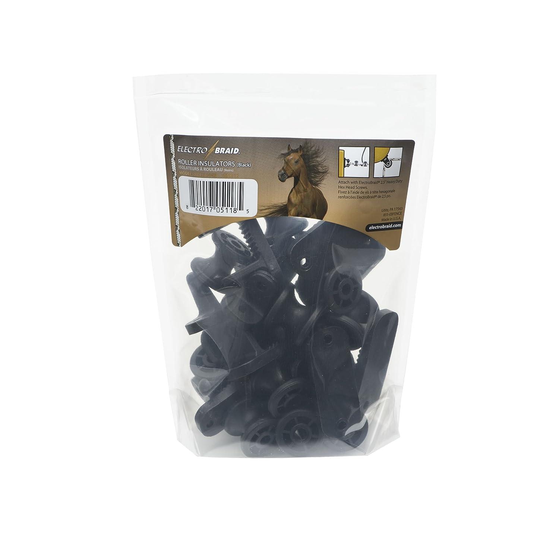 ElectroBraid IROLLB10-EB - Juego de 20 ruedecillas aislantes para verja eléctrica, color negro: Amazon.es: Jardín
