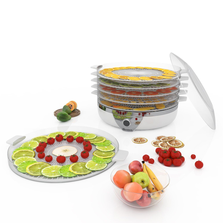 Homdox Deshidratador de Alimentos Secador de Verduras y Frutas con 5 Bandejas: Amazon.es: Hogar