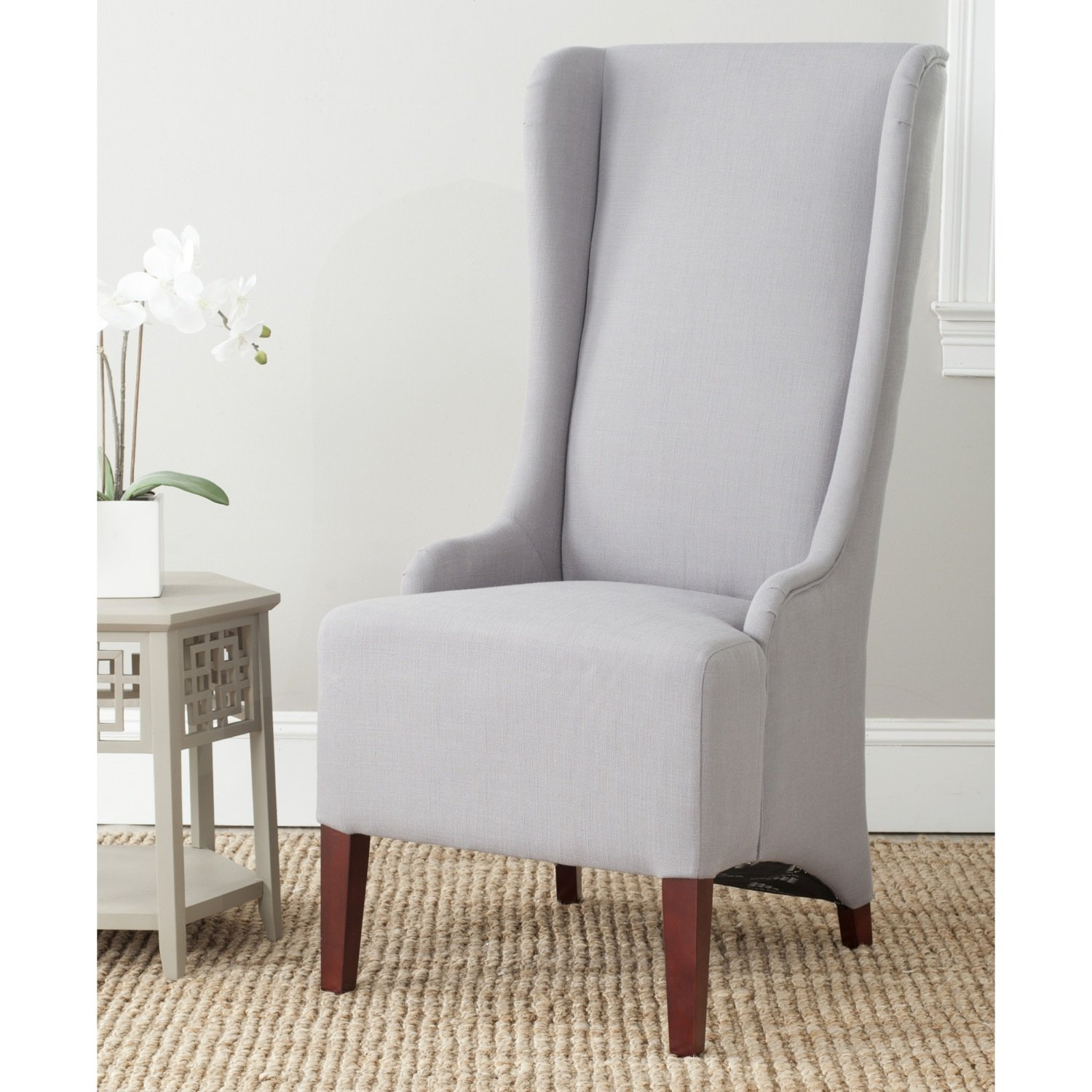Amazon.com   Safavieh Mercer Collection Becall Dining Chair, Artic Grey    Chairs