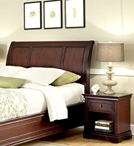 Lafayette Cherry King/California King Sleigh Headboard & Night Stand by Home Styles