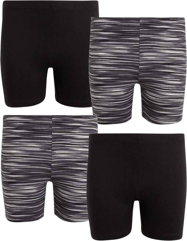 4 Pack Dreamstar Girls Super Soft Active Yummy Stretch Bike Shorts