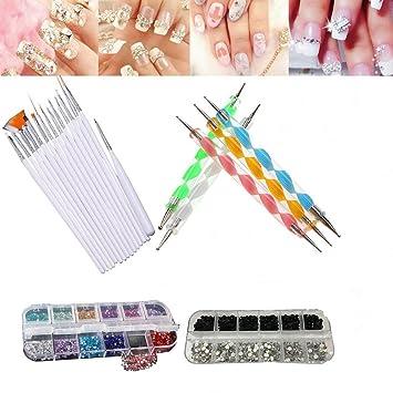 Amazon Yimart 22pcs Nail Art Tool Decorations Kit Set Design