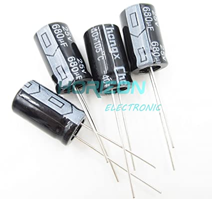 10PCS 680uF 25V 105C Radial Electrolytic Capacitor 10mm*17mm